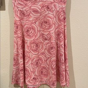 LulaRoe roses super soft skirt. Worn one time only